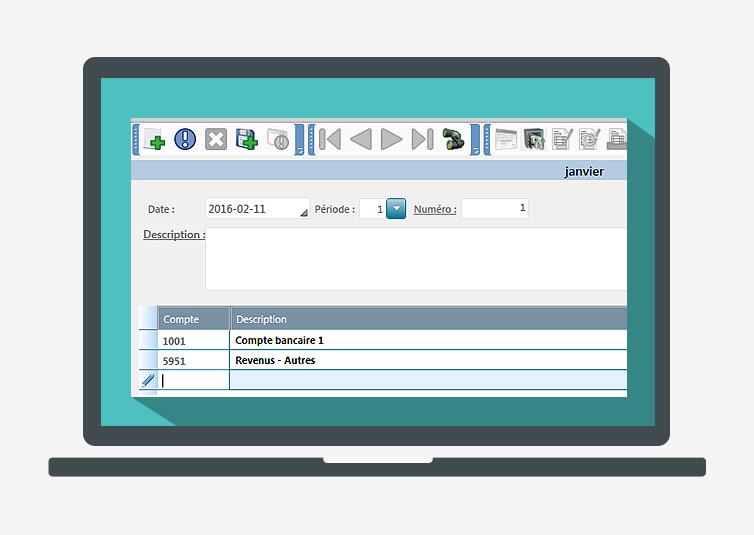 Pour inscrire un chèque, un dépôt ou une écriture, procéder comme suit   009a3d4146c